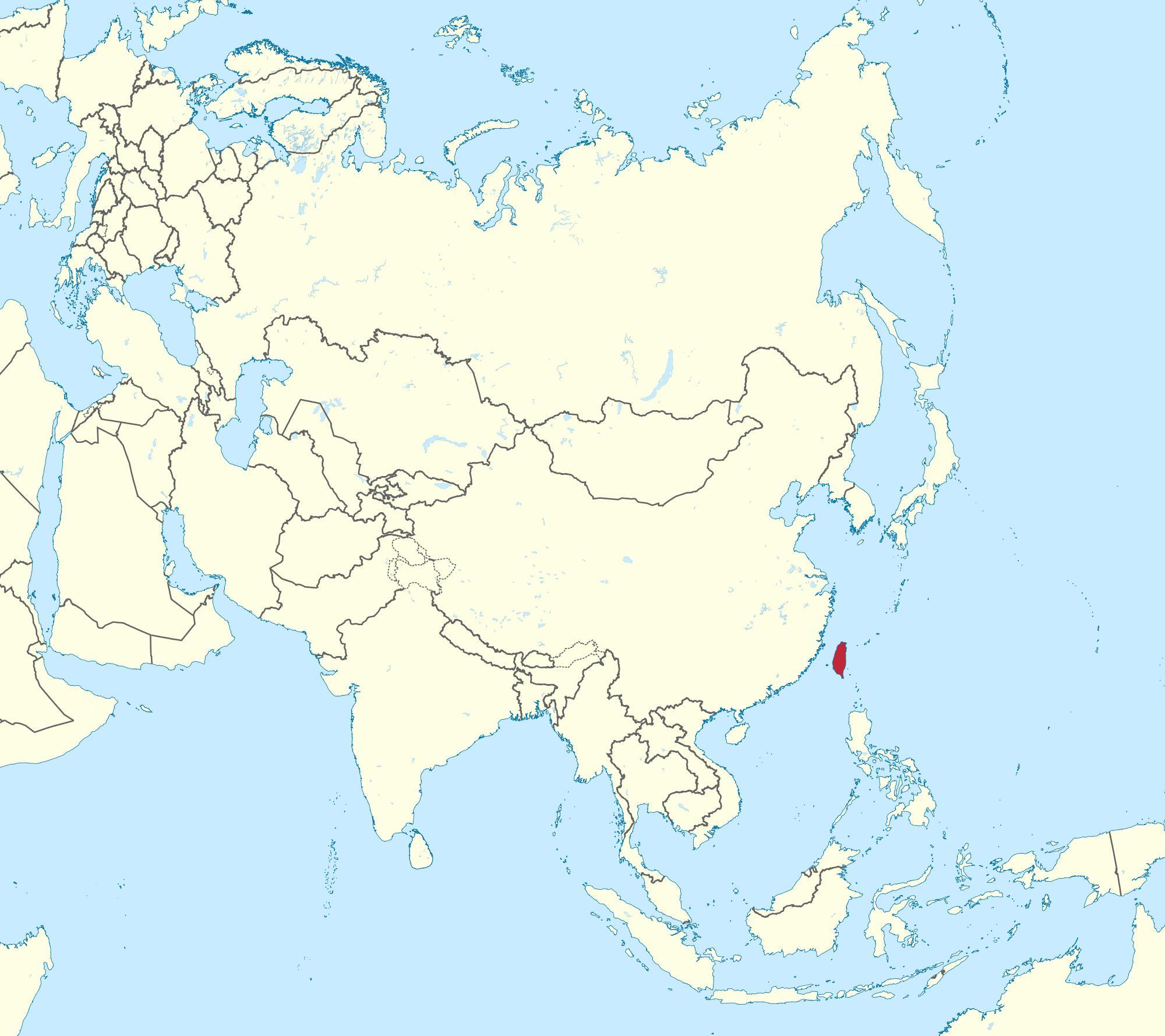 Carte Asie Taiwan.Carte De Taiwan Asie Taiwan De La Carte En Asie Asie De L