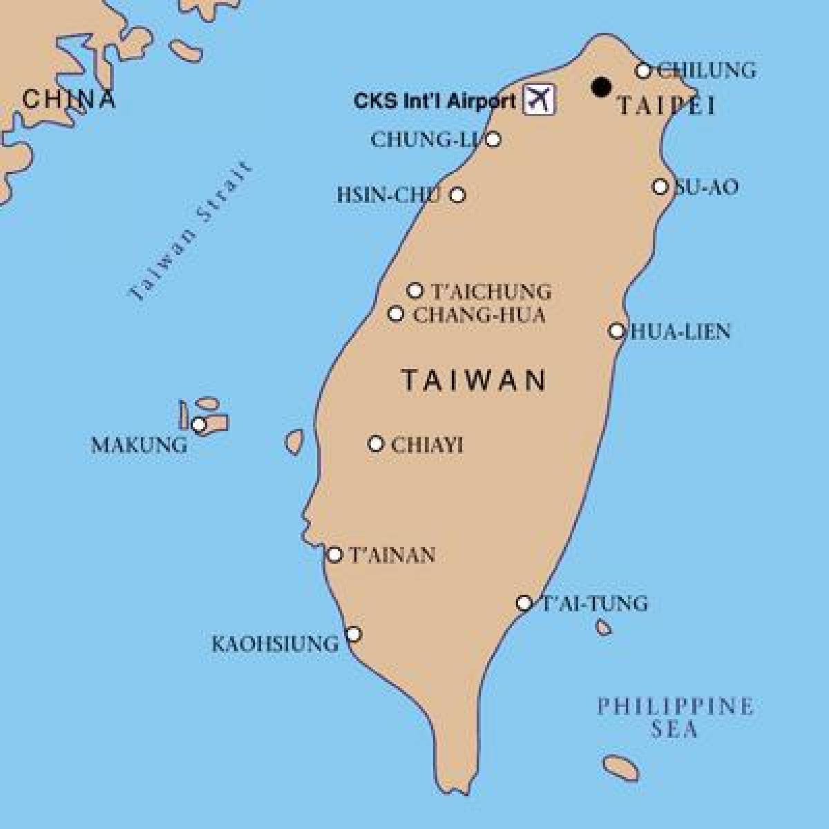 Carte Asie Taiwan.Taiwan Carte D Aeroports Taiwan De L Aeroport