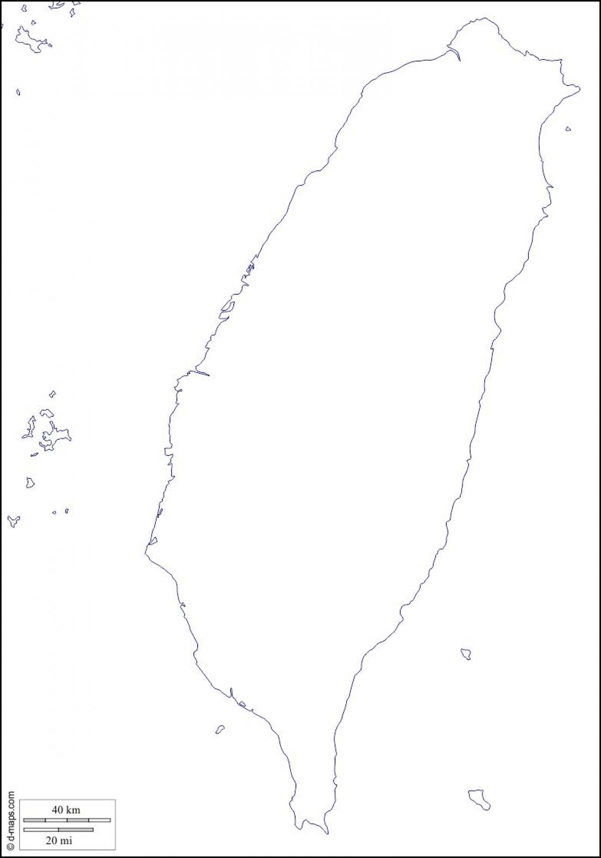 Carte Asie Vierge.Taiwan Carte Vierge Carte De Taiwan Vide Asie De L Est Asie